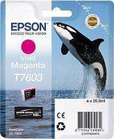 Картридж струйный Epson T7603 C13T76034010 пурпурный (25.9мл) для Epson SureColor SC-P600