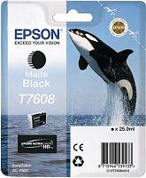 Картридж струйный Epson T7608 C13T76084010 черный матовый (1100стр.) (25.9мл) для Epson SureColor SC-P600
