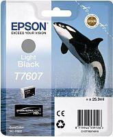 Картридж струйный Epson T7607 C13T76074010 светло-серый (25.9мл) для Epson SureColor SC-P600