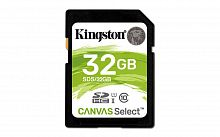 Флеш карта SDHC 32Gb Class10 Kingston SDS/32GB Canvas Select w/o adapter