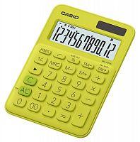 Калькулятор настольный Casio MS-20UC-YG-S-EC желтый/зеленый 12-разр.