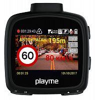 Видеорегистратор Playme Vita черный 4Mpix 1296x2304 1296p 140гр. GPS A12LA35