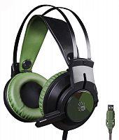 Наушники с микрофоном A4 Bloody J450 черный/зеленый 1.8м мониторные оголовье (J450)