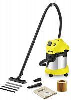 Строительный пылесос Karcher WD3 P Premium 1000Вт (уборка: сухая/сбор воды) желтый