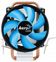Устройство охлаждения(кулер) Aerocool Verkho 1-3P Soc-FM2+/AM2+/AM3+/AM4/1150/1151/1155/ 3-pin 28dB Al+Cu 100W 280gr Ret