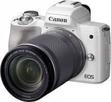 "Фотоаппарат Canon EOS M50 белый 24.1Mpix 3"" 4K WiFi 18-150 IS STM LP-E12 (с объективом)"