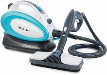 Пароочиститель напольный Kitfort КТ-914 1500Вт белый/голубой