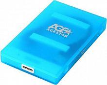 "Внешний корпус для HDD/SSD AgeStar 3UBCP1-6G SATA пластик синий 2.5"""