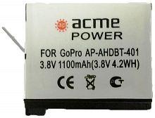 Аккумулятор для экшн-камер AcmePower AP-AHDBT-401 для: GoPro Hero4