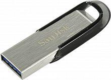 Флеш Диск Sandisk 256Gb Cruzer Ultra Flair SDCZ73-256G-G46 USB3.0 серебристый/черный