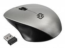 Мышь Оклик 695MW черный/серебристый оптическая (1000dpi) беспроводная USB (2but)