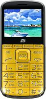 "Мобильный телефон ARK Power F1 32Mb золотистый моноблок 2Sim 2.4"" 240x320 0.3Mpix GSM900/1800 MP3 FM microSD max8Gb"