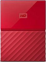 """Жесткий диск WD Original USB 3.0 2Tb WDBLHR0020BRD-EEUE My Passport 2.5"""" красный"""
