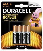 Батарея Duracell Basic CN LR03-4BL MN2400 AAA (4шт)