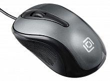 Мышь Оклик 385M черный/серый оптическая (1000dpi) USB для ноутбука (3but)