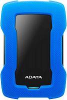 """Жесткий диск A-Data USB 3.0 1Tb AHD330-1TU31-CBL HD330 DashDrive Durable 2.5"""" синий"""
