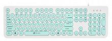 Клавиатура Oklick 400MR белый/мятный USB slim Multimedia