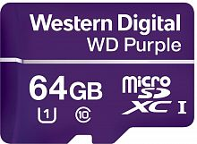 Флеш карта microSDXC 64Gb Class10 WD WDD064G1P0A Purple w/o adapter