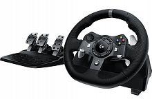 Руль Logitech G920 Driving Force (с педалями) черный
