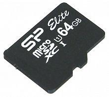 Флеш карта microSDXC 64Gb Class10 Silicon Power SP064GBSTXBU1V10 w/o adapter