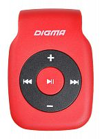 Плеер Digma P2 красный/черный/microSD/clip