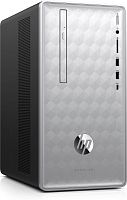 ПК HP Pavilion 590-p0007ur i3 8100 (3.6)/8Gb/1Tb 7.2k/GTX1050Ti 4Gb/DVDRW/CR/Windows 10/GbitEth/WiFi/BT/180W/клавиатура/мышь/серебристый/черный