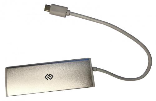 Разветвитель USB-C Digma HUB-4U3.0-UC-S 4порт. серебристый