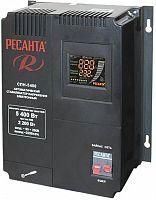 Стабилизатор напряжения Ресанта СПН-5400 электронный однофазный черный