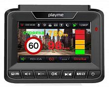 Видеорегистратор с радар-детектором Playme Arton GPS черный
