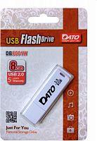 Флеш Диск Dato 8Gb DB8001 DB8001W-08G USB2.0 белый