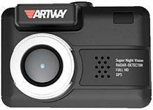 Видеорегистратор с радар-детектором Artway COMBO MD-105 GPS черный
