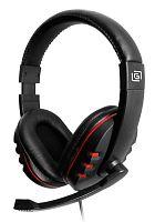 Наушники с микрофоном Оклик HS-L380G ABADDON черный/красный 1.8м мониторные оголовье (JD-032)