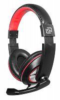 Наушники с микрофоном Оклик HS-L390G DRAGON черный/красный 1.8м мониторные оголовье (JD-728S)