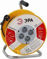 Удлинитель силовой Эра RP-4-3х0.75-20m (Б0033020) 3x0.75кв.мм 4розет. 20м ПВС 10A катушка желтый