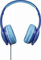 Наушники мониторы Hama Blink`n Kids 1.2м голубой проводные (оголовье)