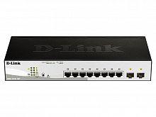 Коммутатор D-Link DGS-1210-10P/F1A 8G 2SFP 8PoE 65W настраиваемый