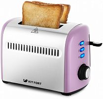 Тостер Kitfort КТ-2026-4 950Вт фиолетовый/серебристый