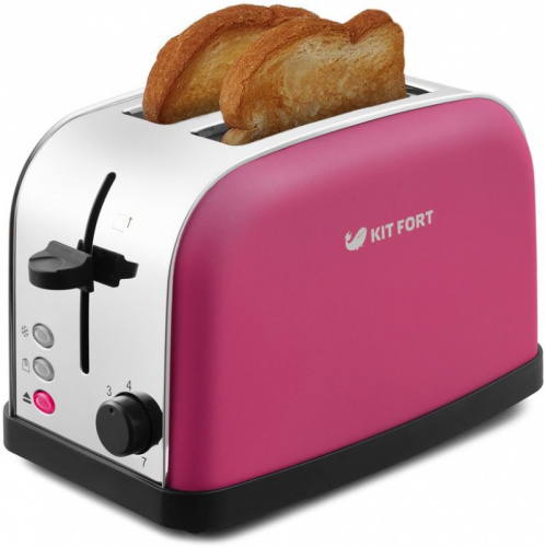 Тостер Kitfort КТ-2014-5 850Вт розовый/серебристый