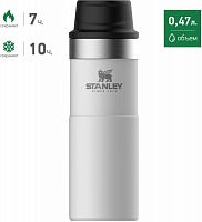 Термокружка Stanley The Trigger-Action Travel Mug (10-06439-032) 0.47л. белый