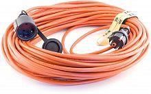 Удлинитель силовой LUX УС1-Е-10-16510 3x1.5кв.мм 1розет. 10м ПВС 16A без катушки оранжевый