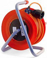 Удлинитель силовой LUX К1-Е-40-22140 3x0.75кв.мм 1розет. 40м ПВС 10A катушка оранжевый