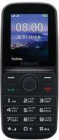 "Мобильный телефон Philips E109 Xenium черный моноблок 2Sim 1.77"" 128x160 GSM900/1800 MP3 FM microSD max16Gb"