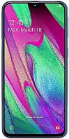 "Смартфон Samsung SM-A405F Galaxy A40 64Gb 4Gb синий моноблок 3G 4G 2Sim 5.9"" 1080x2340 Android 9 16Mpix 802.11 a/b/g/n/ac NFC GPS GSM900/1800 GSM1900 TouchSc MP3 A-GPS microSD max512Gb"
