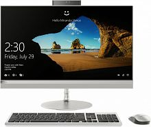 "Моноблок Lenovo IdeaCentre 520-27ICB 27"" QHD Touch i7 8700T (2.4)/16Gb/2Tb 7.2k/SSD256Gb/UHDG 630/DVDRW/CR/Windows 10 Home Single Language 64/GbitEth/WiFi/BT/120W/клавиатура/мышь/Cam/серебристый 2560x1440"