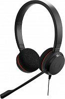Наушники с микрофоном Jabra Evolve 20 MS Stereo черный 1.2м накладные USB оголовье (4999-823-109)