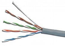 Кабель сетевой UTP 4 пары cat5E solid 0.50мм CCA 100м серый