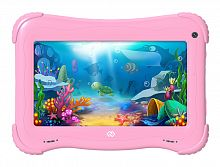 "Планшет Digma Optima Kids 7 RK3126C (1.2) 4C/RAM1Gb/ROM16Gb 7"" IPS 1024x600/Android 8.1/розовый/2Mpix/0.3Mpix/BT/WiFi/Touch/microSD 128Gb/minUSB/2500mAh"