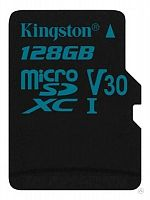 Флеш карта microSDXC 128Gb Class10 Kingston SDCG2/128GBSP Canvas Go w/o adapter
