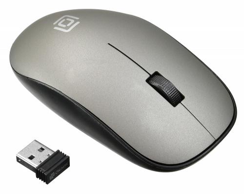 Мышь Оклик 515MW черный/серый оптическая (1200dpi) беспроводная USB (2but) фото 2