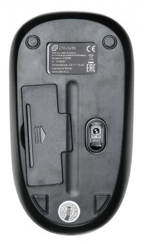 Мышь Оклик 515MW черный/серый оптическая (1200dpi) беспроводная USB (2but) фото 5